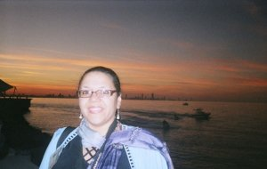 On the Arabian Gulf at dusk